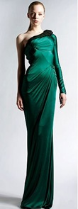 Zuhair Murad Emerald One Shoulder