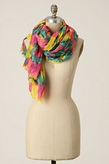 anthropologie watercolor scarf