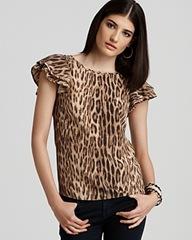michael kors leopard blouse bloomingdales