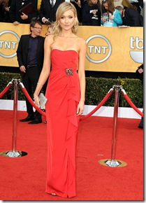 Actress Katrina Bowden arrives at the 17th Annual Screen Actors Guild Awards held at The Shrine Auditorium on January 30, 2011 in Los Angeles, California.