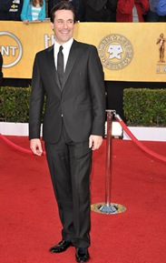 Actor Jon Hamm arrives at the TNT/TBS broadcast of the 17th Annual Screen Actors Guild Awards held at The Shrine Auditorium  on January 30, 2011 in Los Angeles, California. 20823_003_JS_1072.JPG