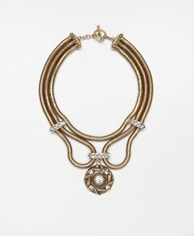 Burnished Medallion Necklace_Ann Taylor