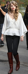 Taylor Swift Peasant Blouse