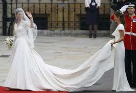 Royal Wedding Dress Train 3