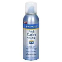 Neutrogena Fresh Cooling Body Mist Sunblock Amazon.com $12