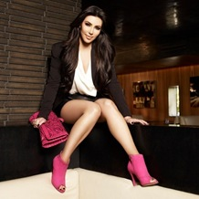 Kim Kardashian in Powerful Pink Collection