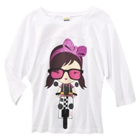 Harajuku Mini for Target Girls 3QS Nerdy Chic Tee 14.99