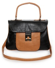 Black Tan Satchel Lulus 42.00