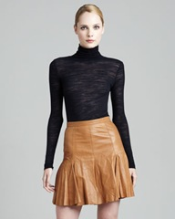 Leather_Halston Heritage Leather Skirt_Rust_695_CUSP