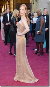 Oscars13-Jessica-Chastain-Giorgio Armani Christian Louboutin2